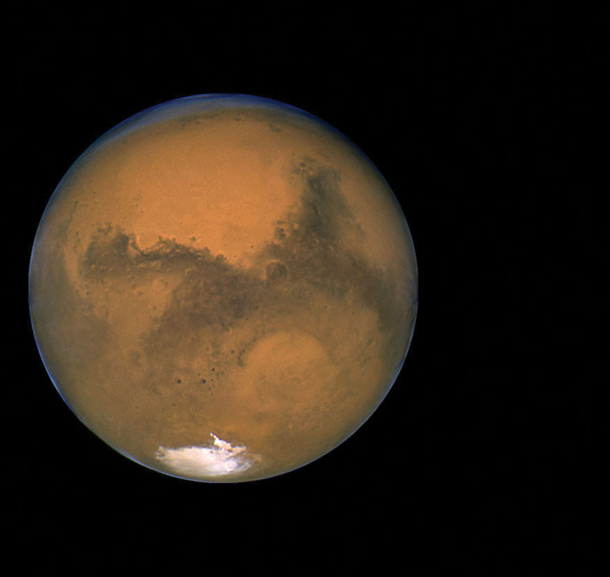 A mounting body of evidence suggests the presence of liquid water on the Red Planet. Credit: NASA