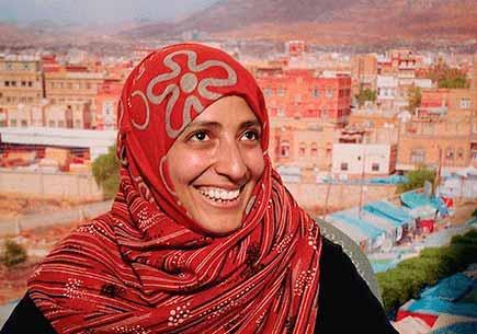Yemeni human rights activist Tawakkul Karman, the first Arab woman to win the Nobel Peace Prize