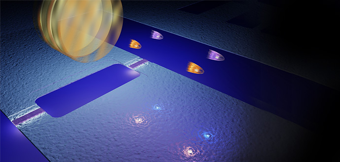 A team of physicists including a researcher from the University of Michigan observed what's called the dynamical Casimir effect for the first time earlier this year. They essentially squeezed light particles from the vacuum of space. Image courtesy of Philip Krantz