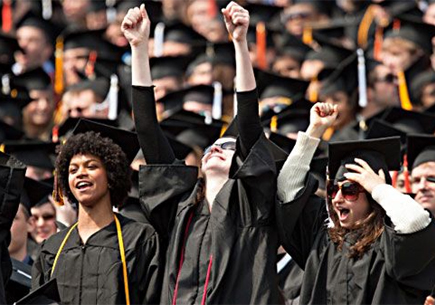 spring commencement grads