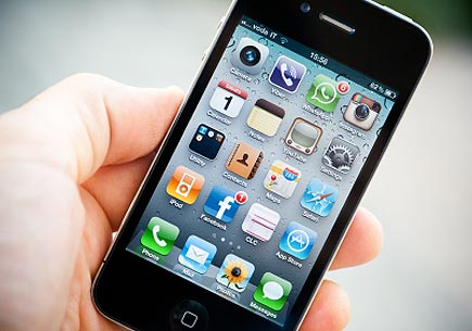 Photo of an iPhone home screen (stock image)