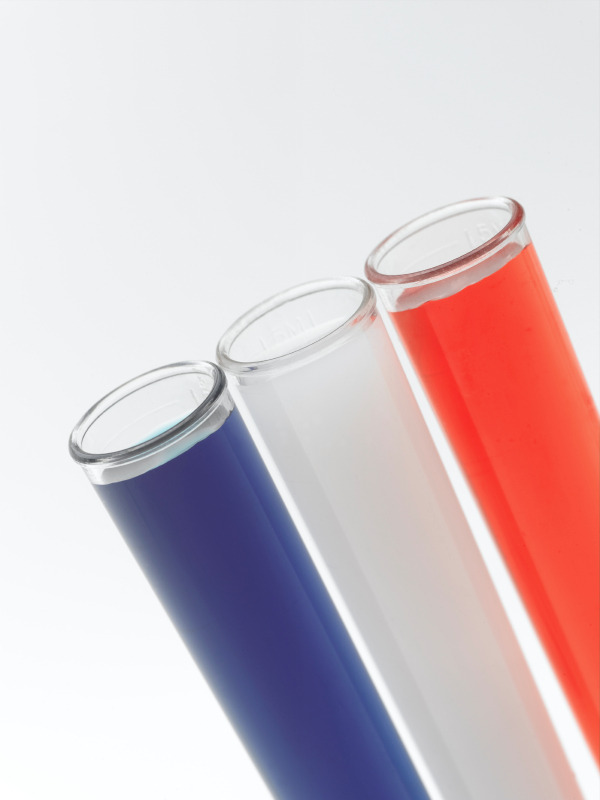 Made in the USA theme test tubes. (stock image)