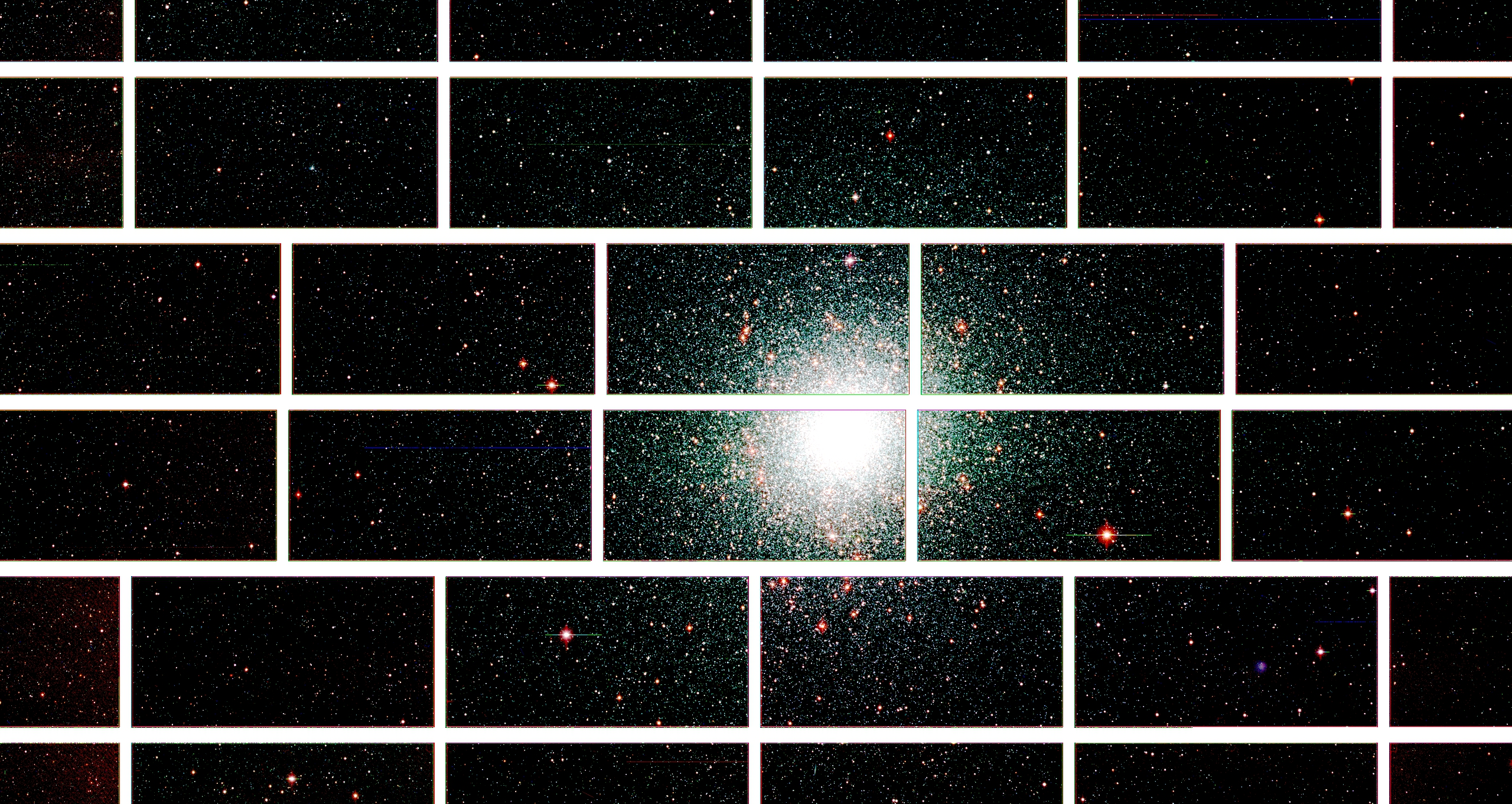 Zoomed-in image from the Dark Energy Camera of the center of the globular star cluster 47 Tucanae, which lies about 17,000 light years from Earth. Image credit: Dark Energy Survey Collaboration