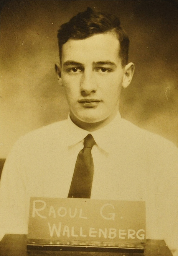 A freshman registration photo of Raoul Wallenberg taken in 1931. Image courtesy of the Bentley Historical Library