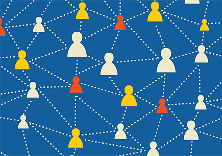 Illustration of a social media network. (stock image)