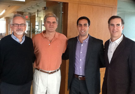 Dr. Perry Samson, Steve Case (Managing Partner of Revolution and Founder of AOL), Jason Aubrey, and Echo360's CEO Fred Singer