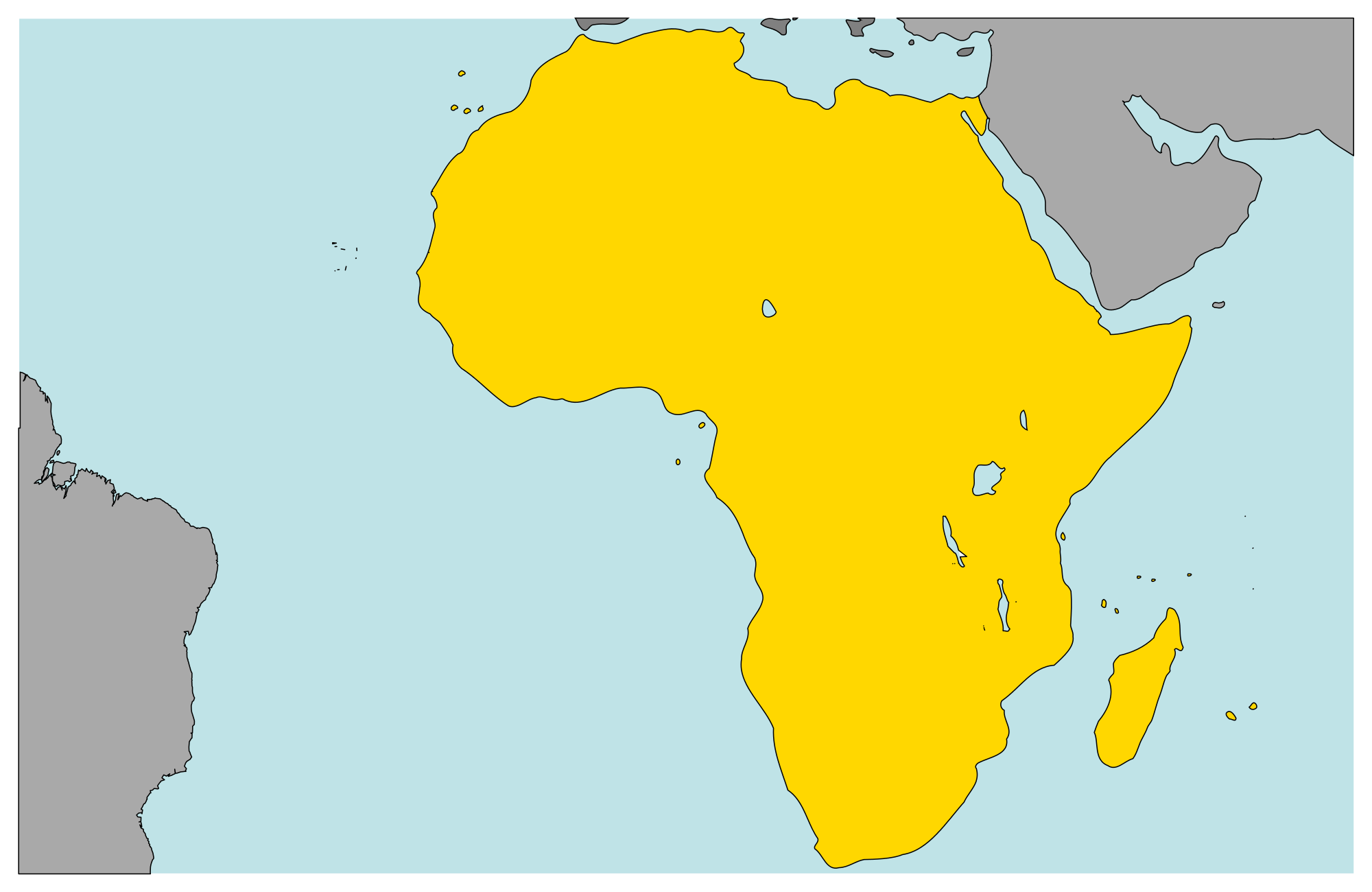 Map of Africa. image courtesy of wikimedia.org