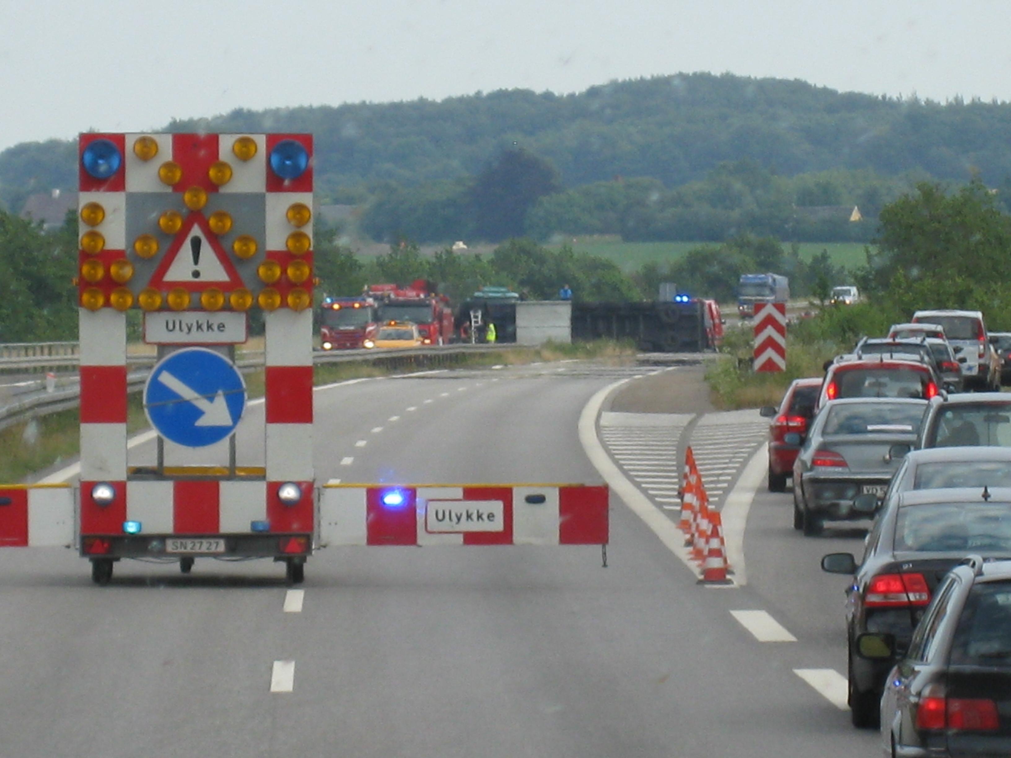 Traffic accident on a European highway. Image credit: flickr.com user Matti Mattila