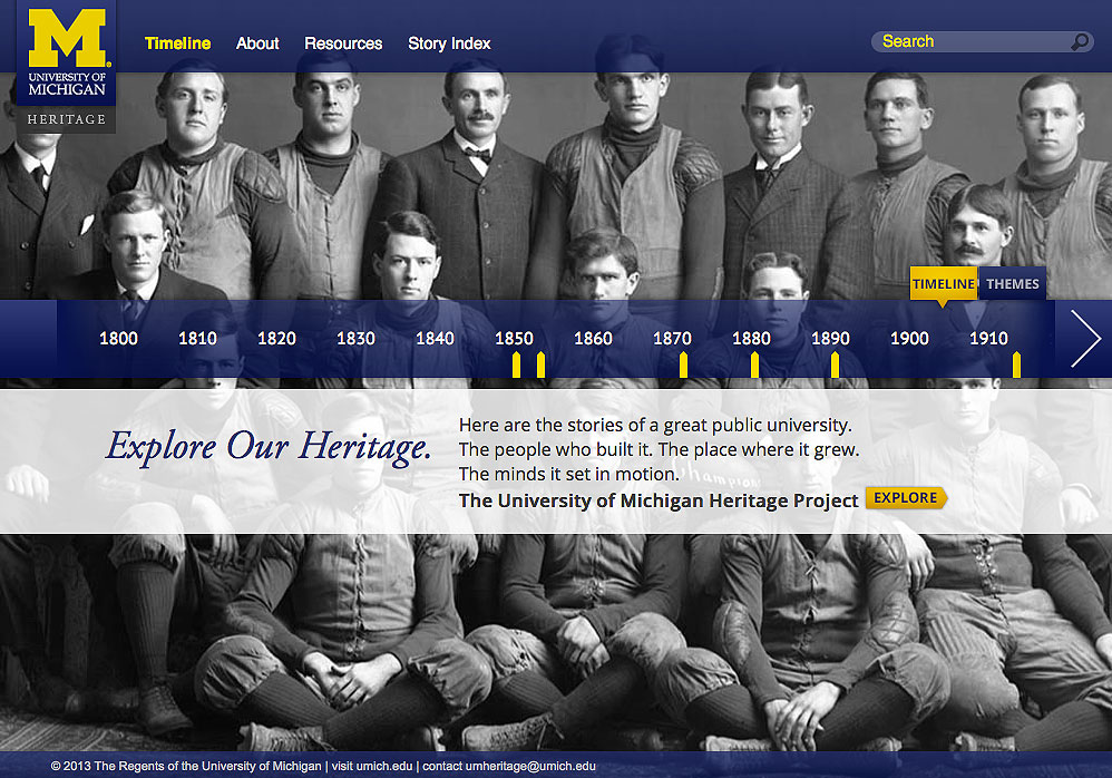 The University of Michigan Heritage Project website