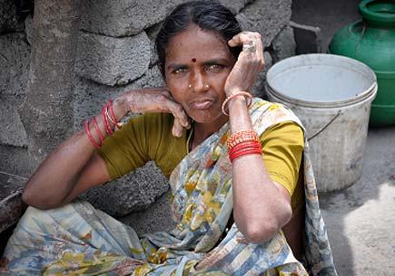 Indian Rural woman. (stock image)