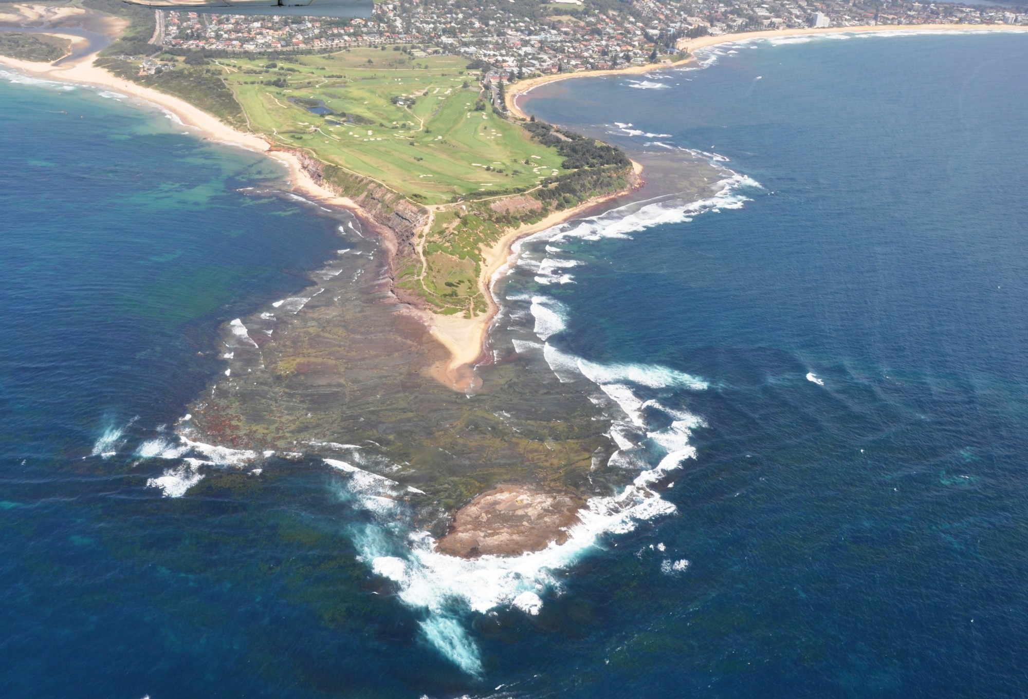 An aerial view of the rocky southern Australia coastline near Sydney. This location was part of a decade-long study of clam evolution led by two University of Michigan biologists. Photo by Peter Donkers.