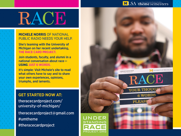 Race Card Project promotional flyer. Image credit: U-M LSA