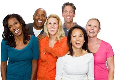 Diverse group of people in age and nationality. (stock image)