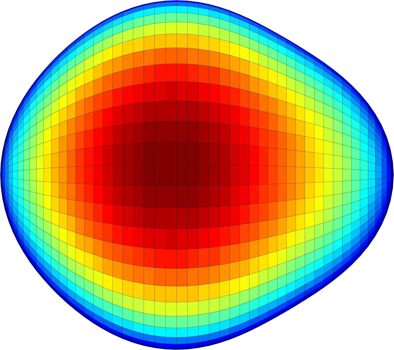 A graphical representation of the pear-shaped nucleus of an exotic atom. The shape of the nucleus could give clues to why the universe contains more matter than antimatter. Image credit: Liam Gaffney and Peter Butler, University of Liverpool