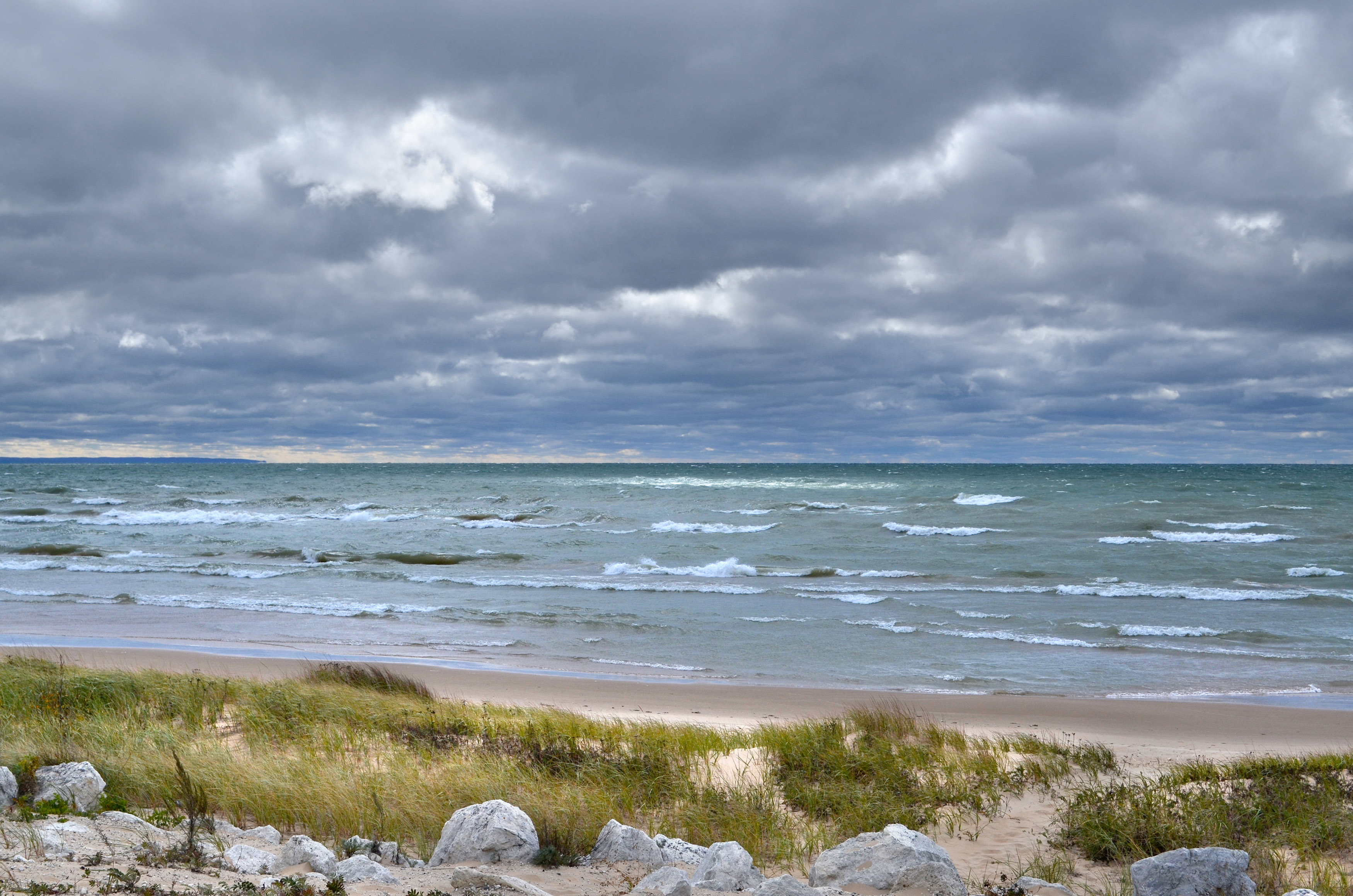Lake Michigan, west of St. Ignace. Image credit: Michigan Sea Grant