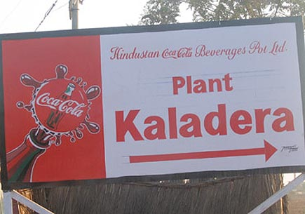 Sign at Kala Dera Plant. Image credit: India Resource Center