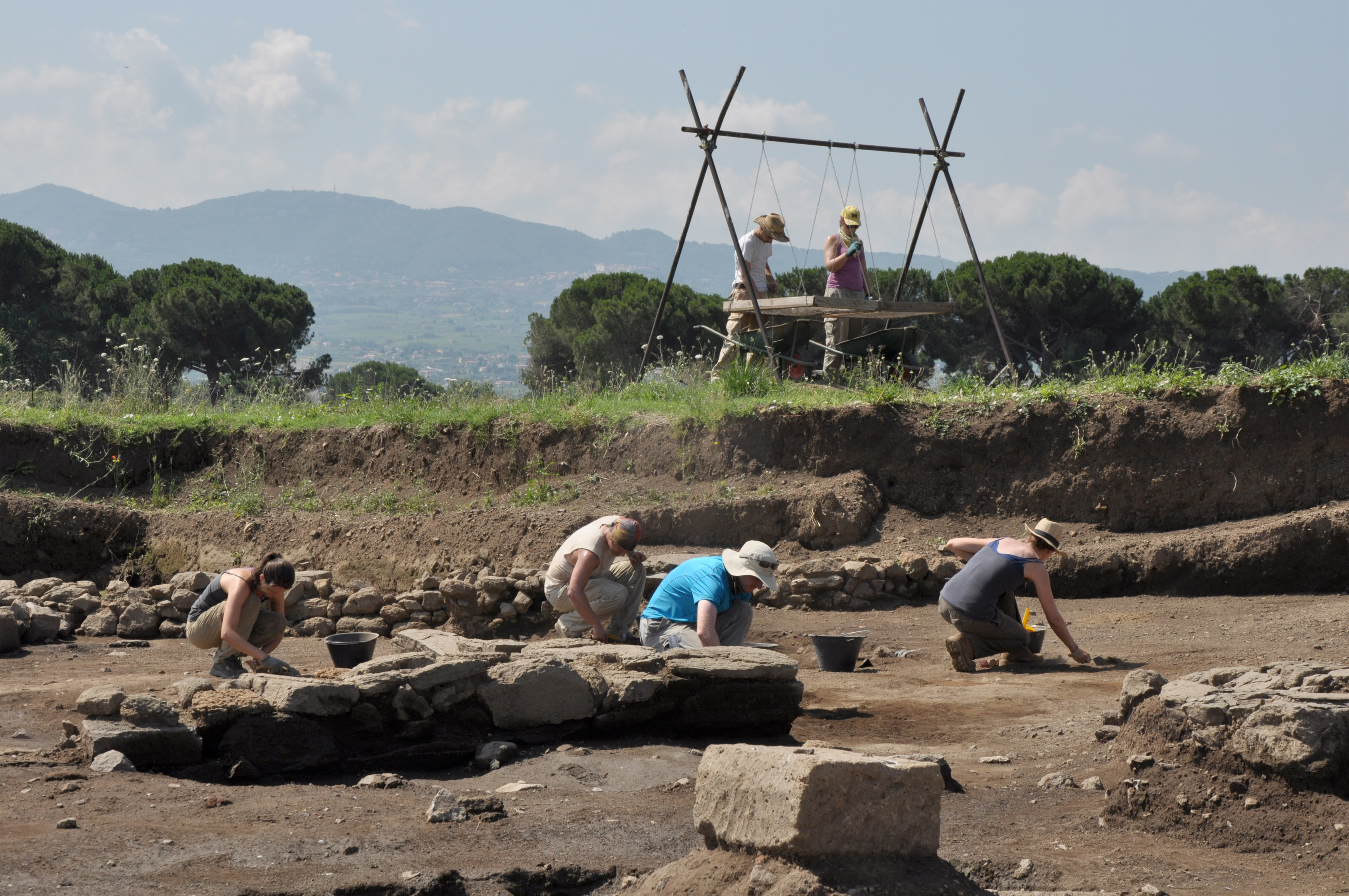A team of 60 researchers including undergraduates and graduate students from several universities took part this summer in a major archeological dig at the site of Gabii, just outside Rome. The project, which began in 2009, is the largest American dig in Italy in the past 50 years.