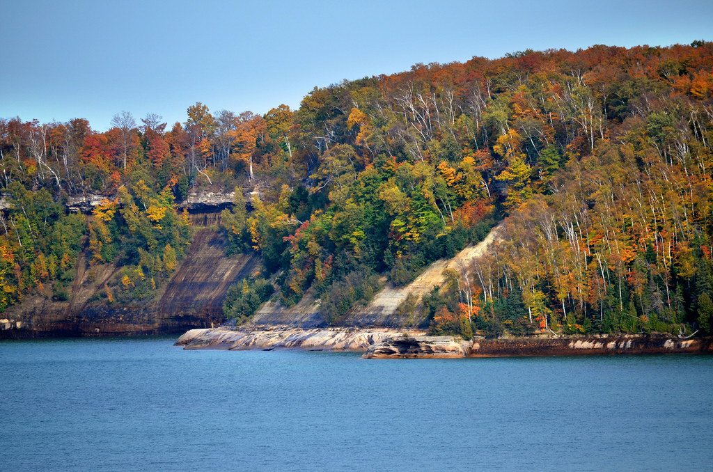 Pictured Rocks National Lakeshore, Lake Superior. Image credit: Michigan Sea Grant