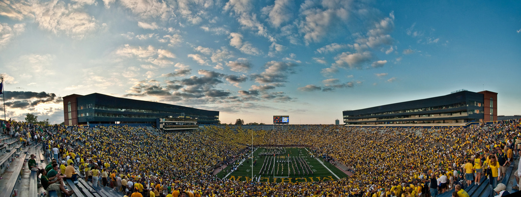 A packed Michigan Stadium circa 2009. Image credit: Flickr.com user Brian Wolfe
