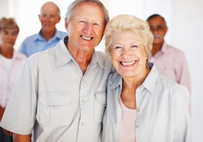 A group of happy senior citizens. (stock image)