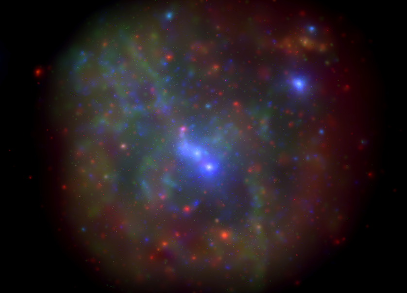 The galactic center as imaged by the Swift X-ray Telescope. This image is a montage of all data obtained in the monitoring program from 2006-2013. Image credit: NASA/Swift/N. Degenaar (Univ. of Michigan)