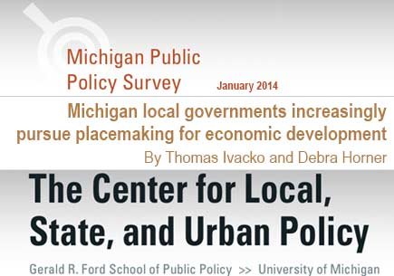 Michigan local governments increasingly pursue placemaking for economic development