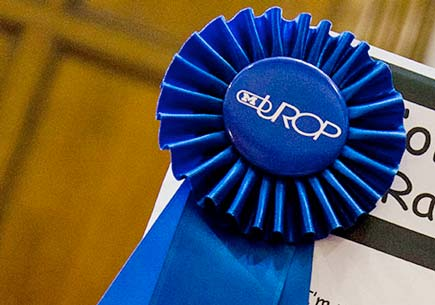 Blue ribbon with the acronym URPO (Undergraduate Research Opportunity Program)