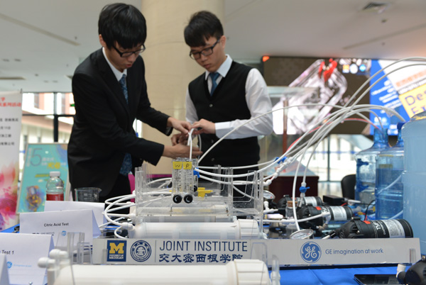 The Joint Institute provides a chance to do hands-on learning, often rare in the Chinese education system.