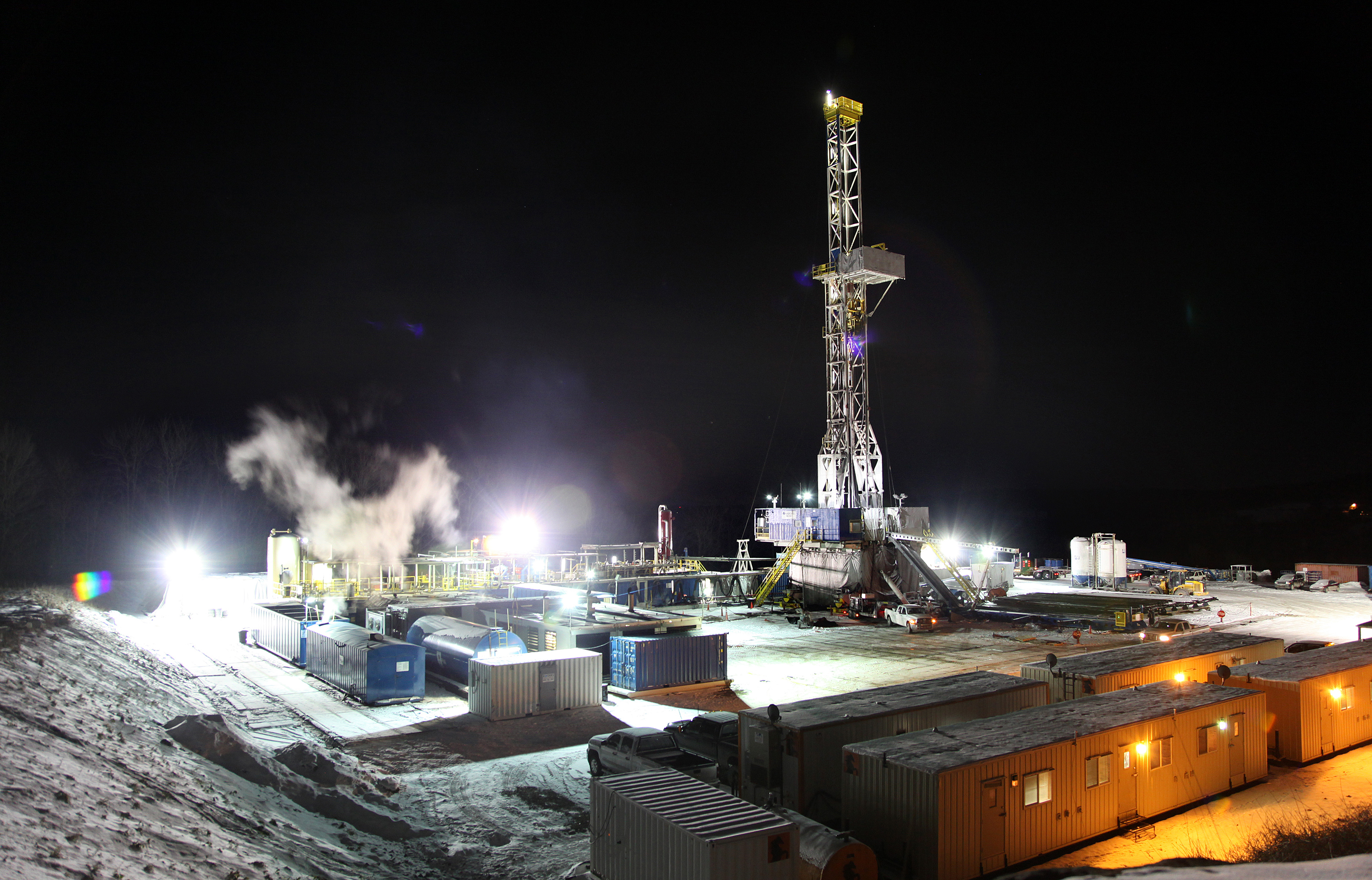 A natural gas drilling site near Montrose, Pa. Image credit: Marcin Szczepanski