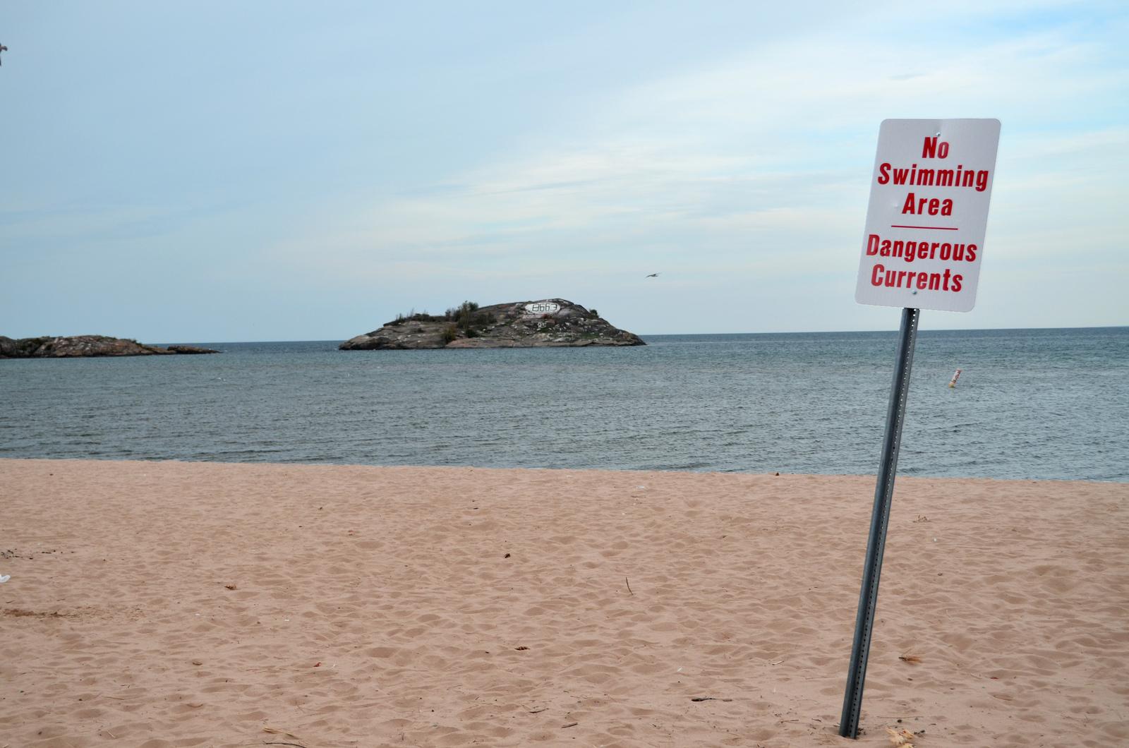 Picnic Rocks, Shiras Park, Marquette, MI. Image credit: Michigan Sea Grant
