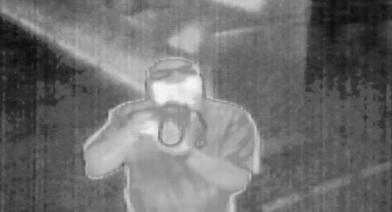 A thermal image of a man holding a camera. Image courtesy Michigan Engineering