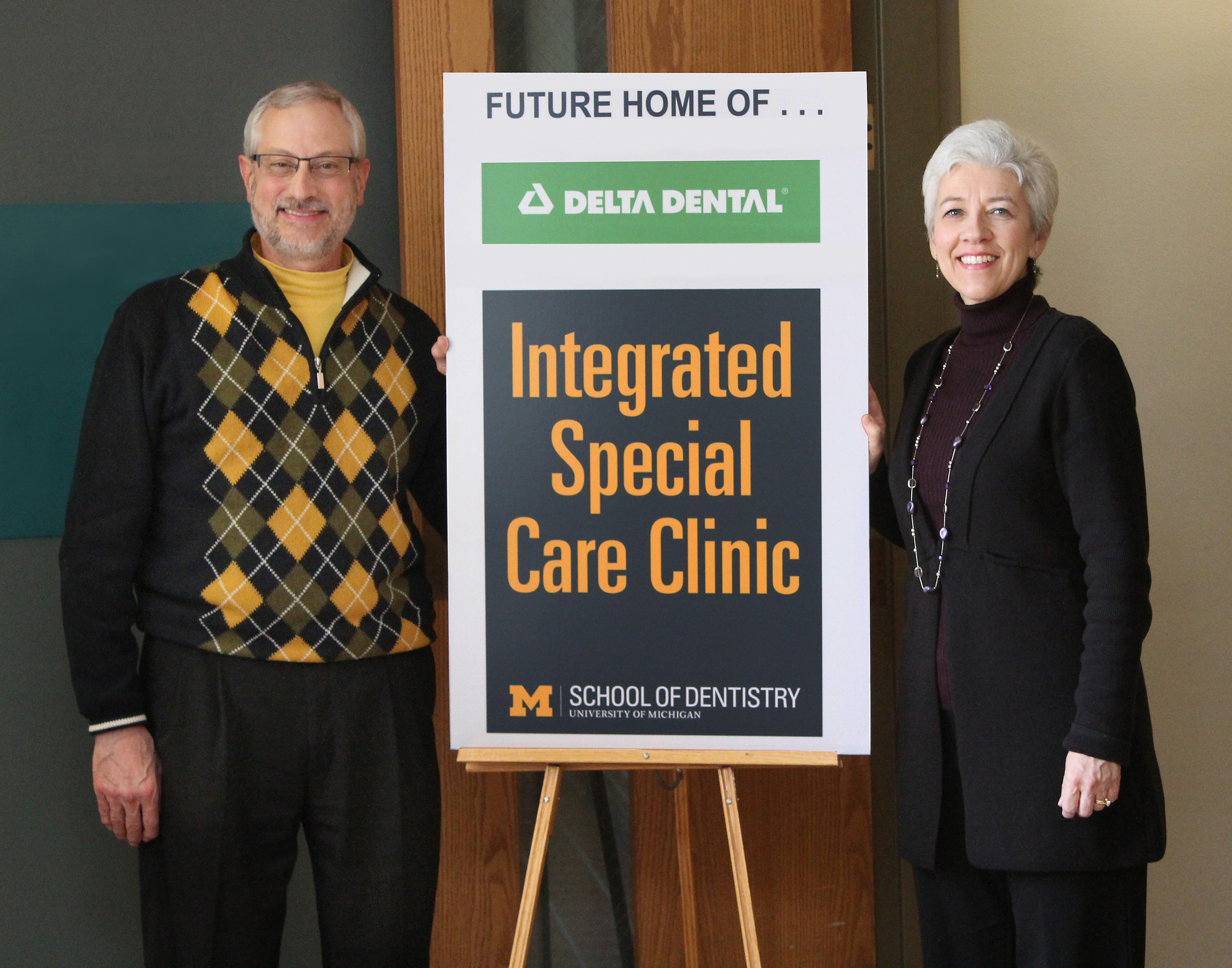 Dr. Stephen Stefanac, U-M senior associate dean and clinical professor of dentistry, and Dr. Carol Anne Murdoch-Kinch, associate dean and clinical professor of dentistry, at the School of Dentistry.