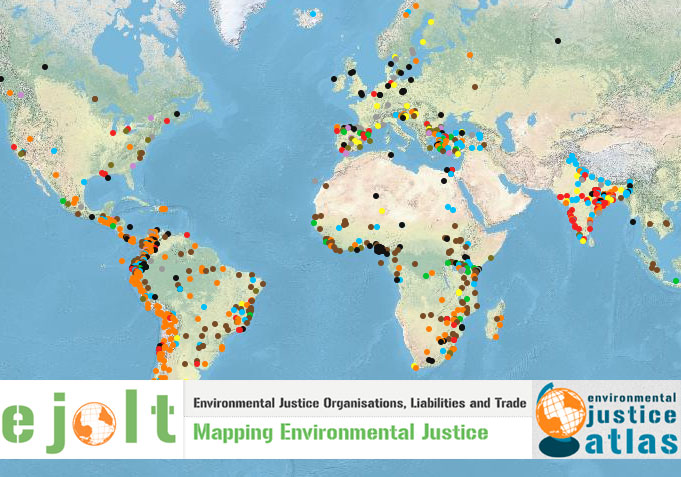 Environmental Justice Organisations, Liabilities and Trade: Mapping Environmental Justice. Environmental Justice Atlas. Composite images courtesy: EJOLT