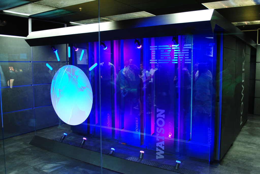 IBM's Watson computer, Yorktown Heights, NY. Image credit: Clockready (Own work) [CC-BY-SA-3.0 (http://creativecommons.org/licenses/by-sa/3.0) or GFDL (http://www.gnu.org/copyleft/fdl.html)], via Wikimedia Commons