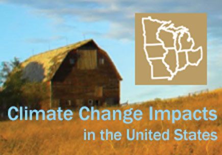 A field landscape with a barn and a graphic of the Midwest region in the upper left corner.