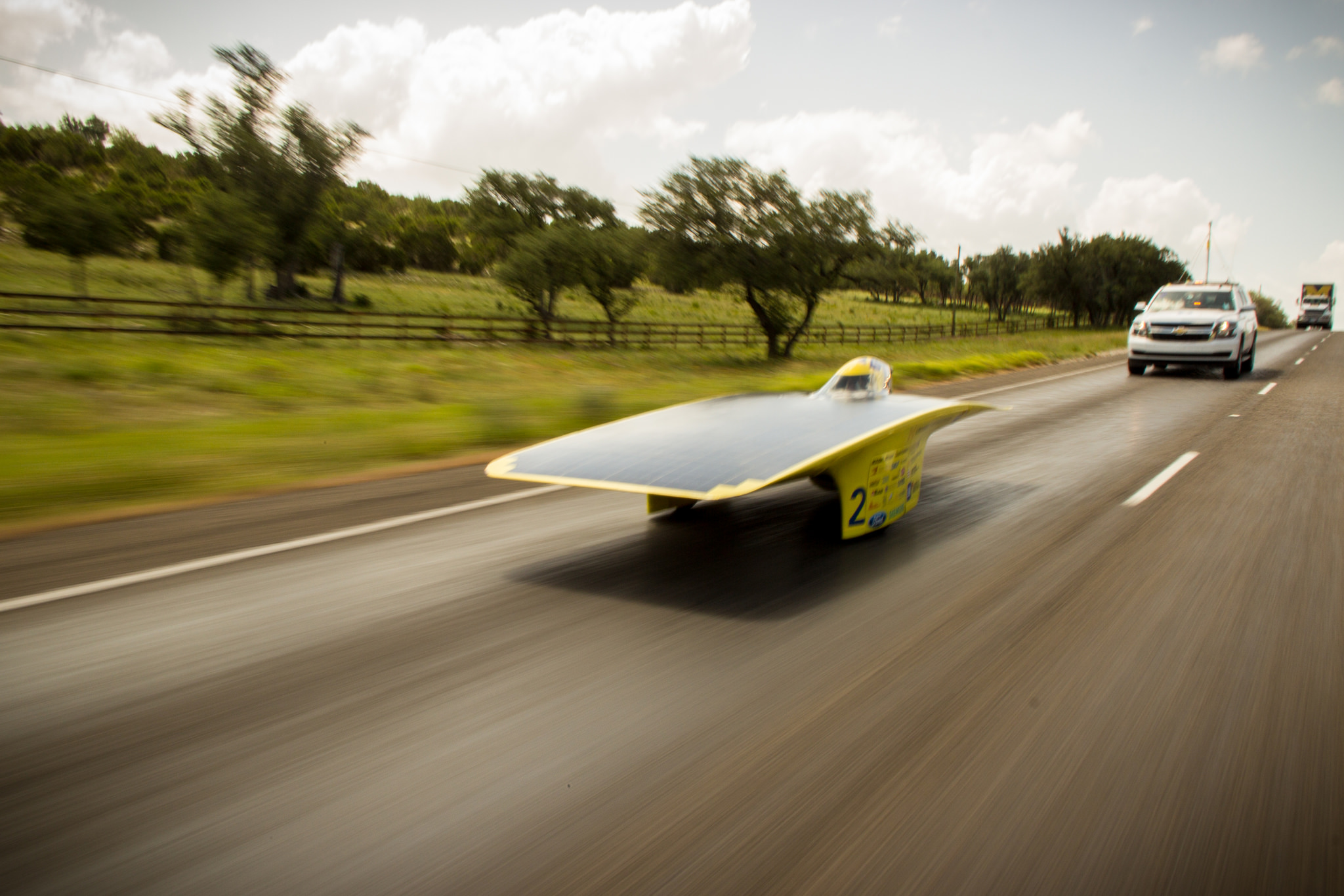 University of Michigan's 2014 solar car, Quantum. Image credit: Darren Cheng