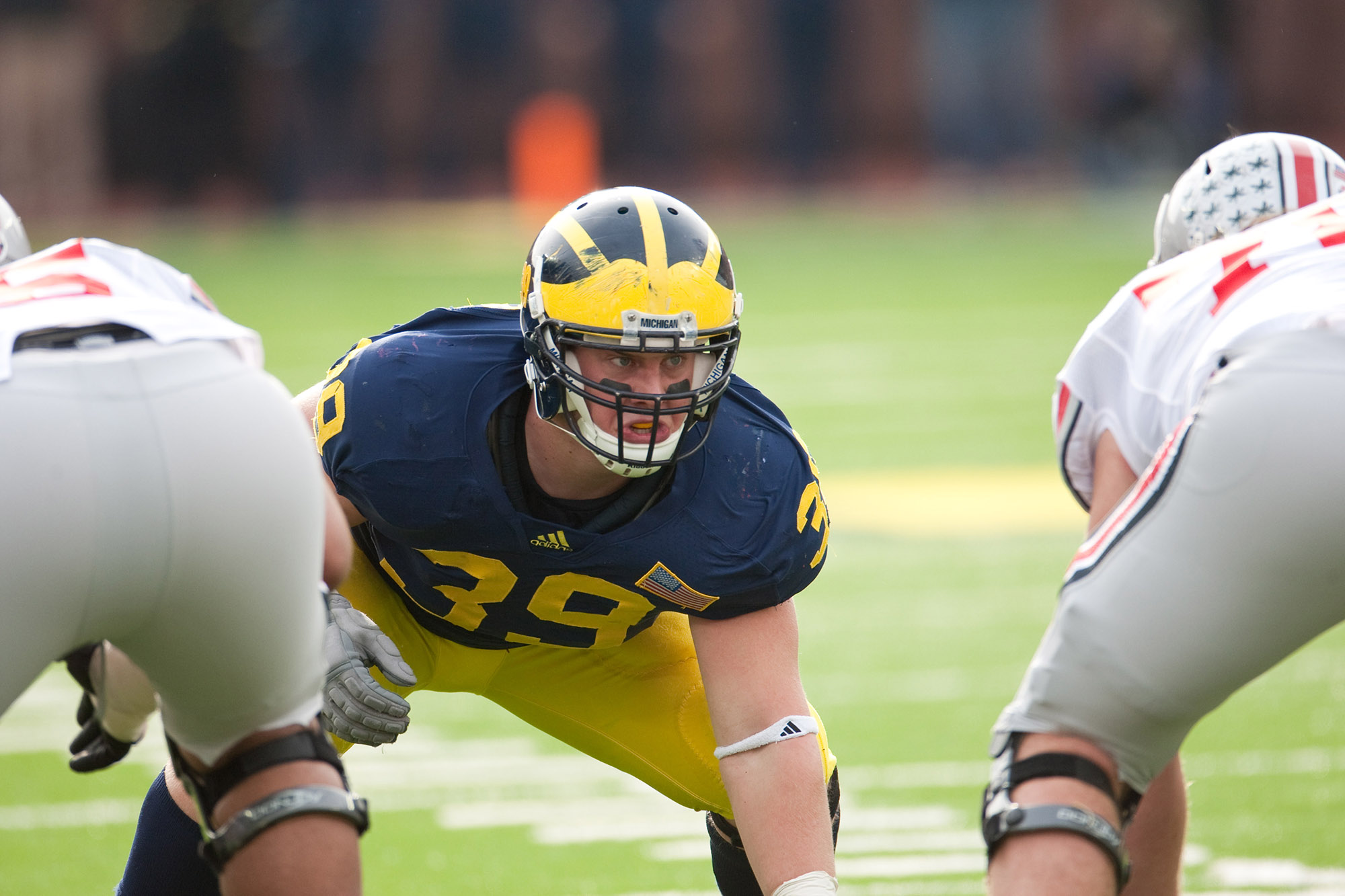 Will Heininger, mental health advocate and former U-M football player. Image credit: Michigan Photography