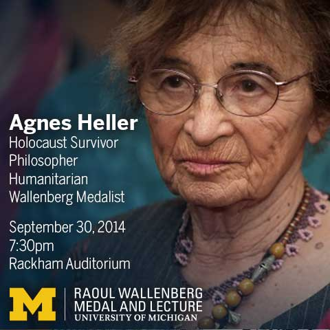 Agnes Heller, Holocaust survivor, philosopher, humanitarian, Wallenberg Medalist