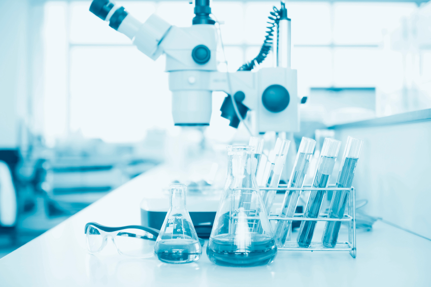 A science laboratory. (stock image)