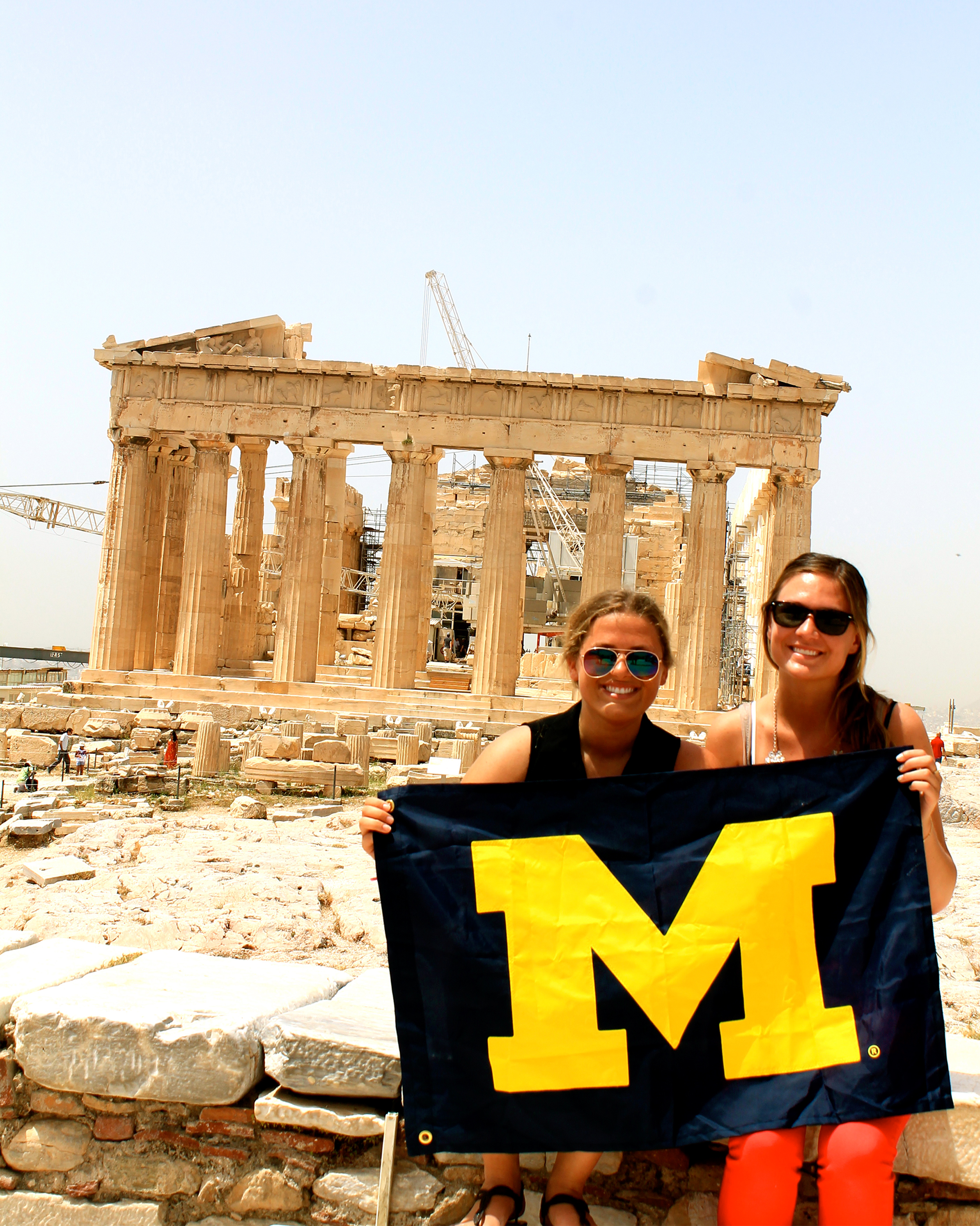 Students visit the Acropolis in Athens, Greece. Image credit: Sara Becker