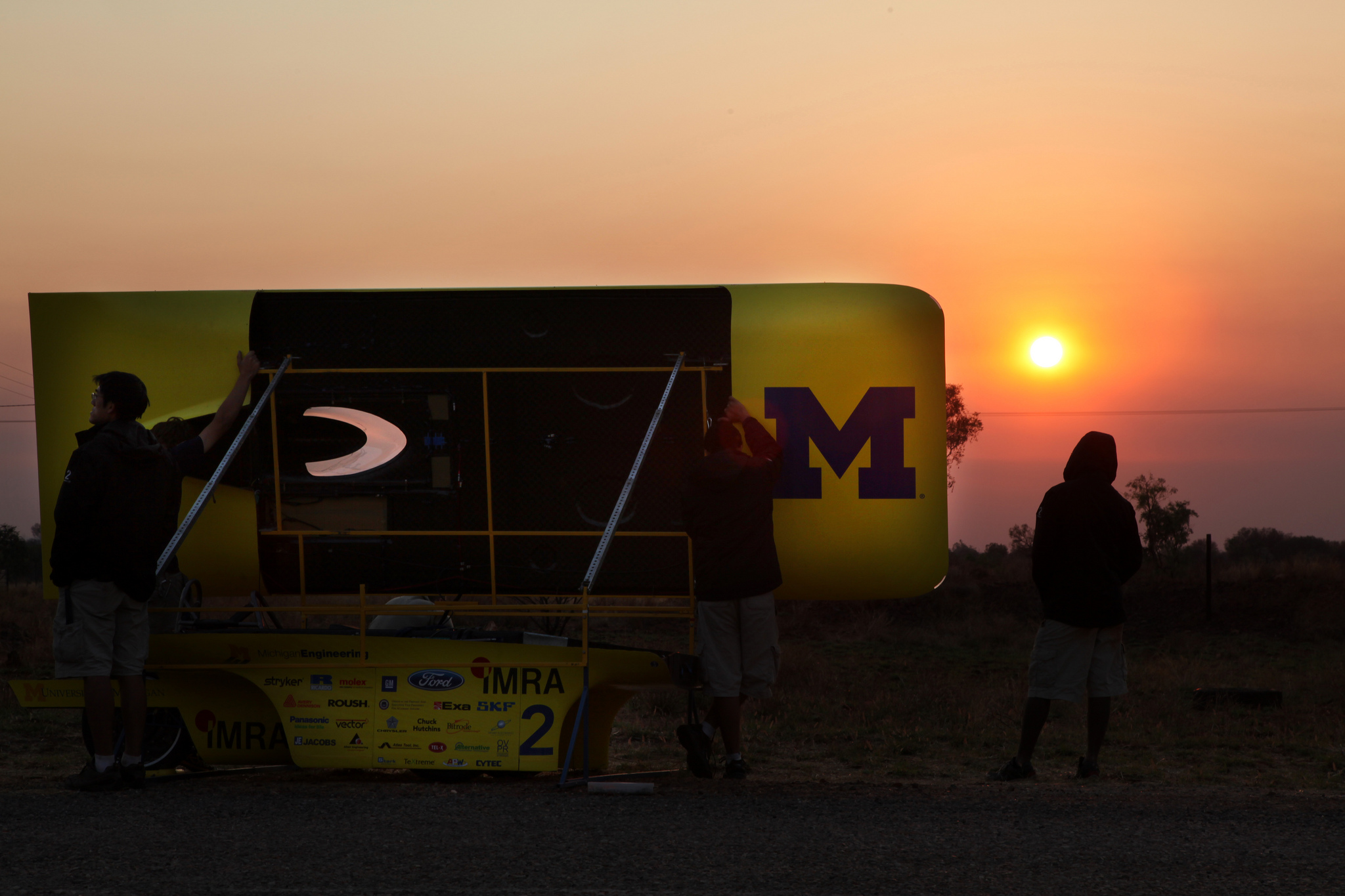 Day three of the 2011 World Solar Challenge. Image credit: Marcin Szczepanski, U-M College of Engineering
