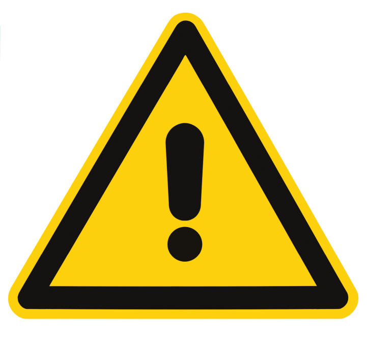Blank danger and hazard triangle warning sign (stock image)
