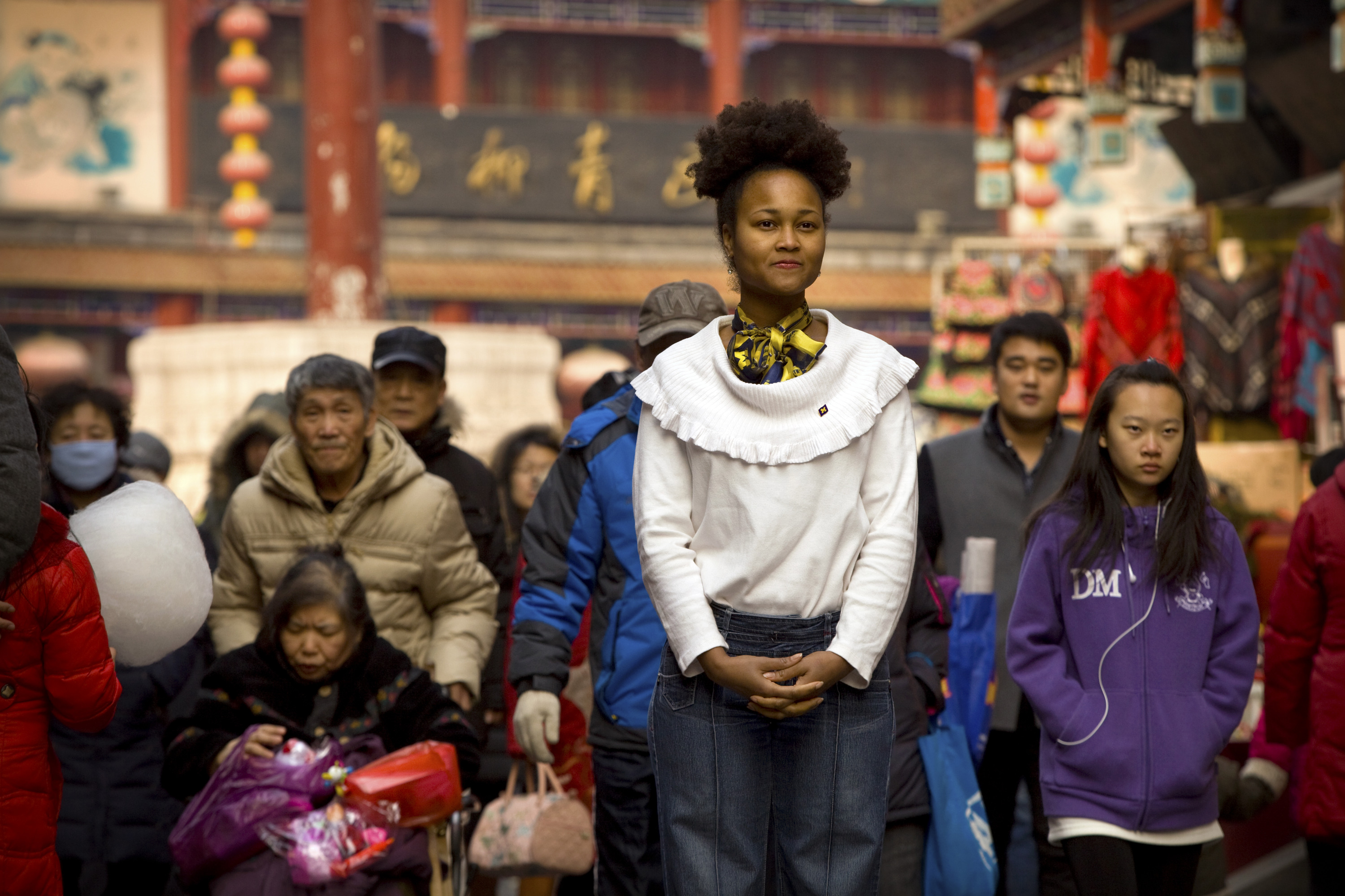 Kelicia Hollis, who earned a master's degree in higher education at U-M, is using her Fulbright grant to research how Chinese students prepare to study abroad.