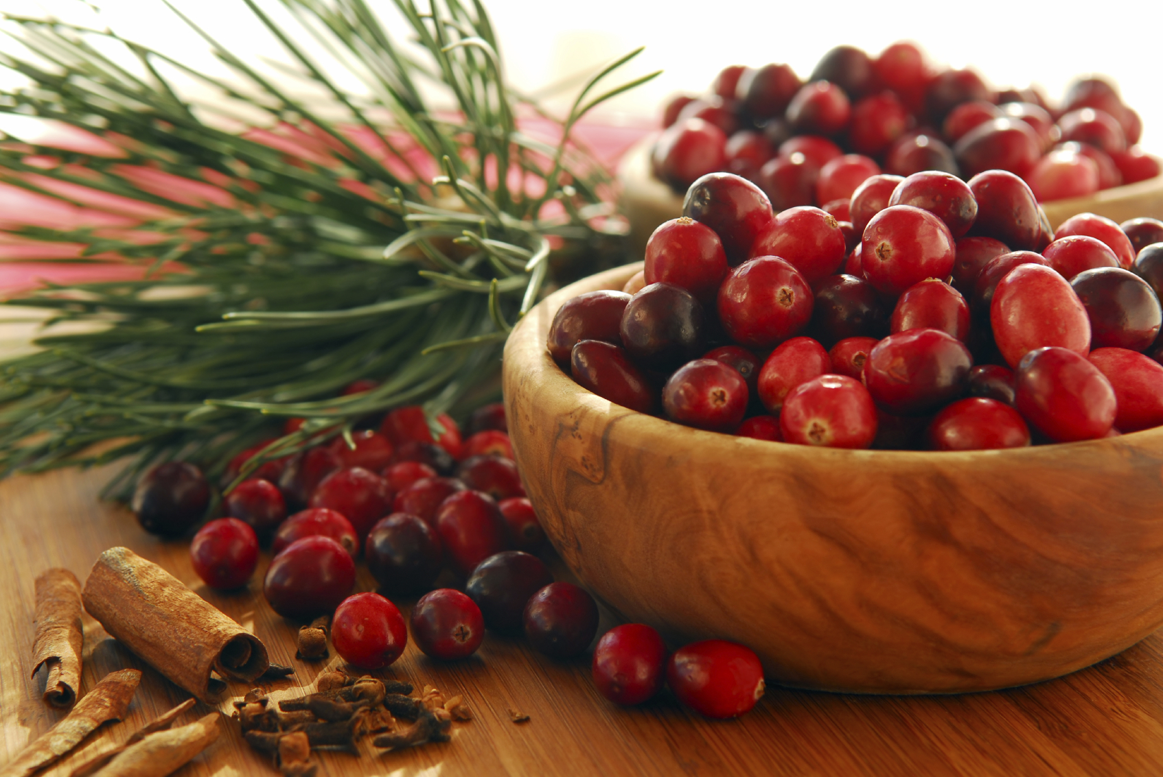 Cranberries in a bowl. (stock image)