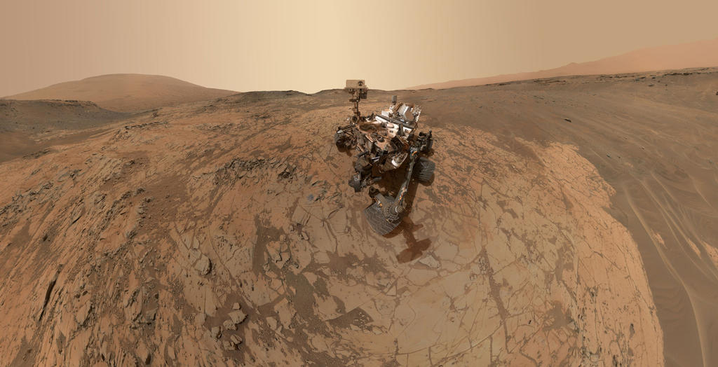 Mars Science Laboratory on Mars. Image credit: NASA