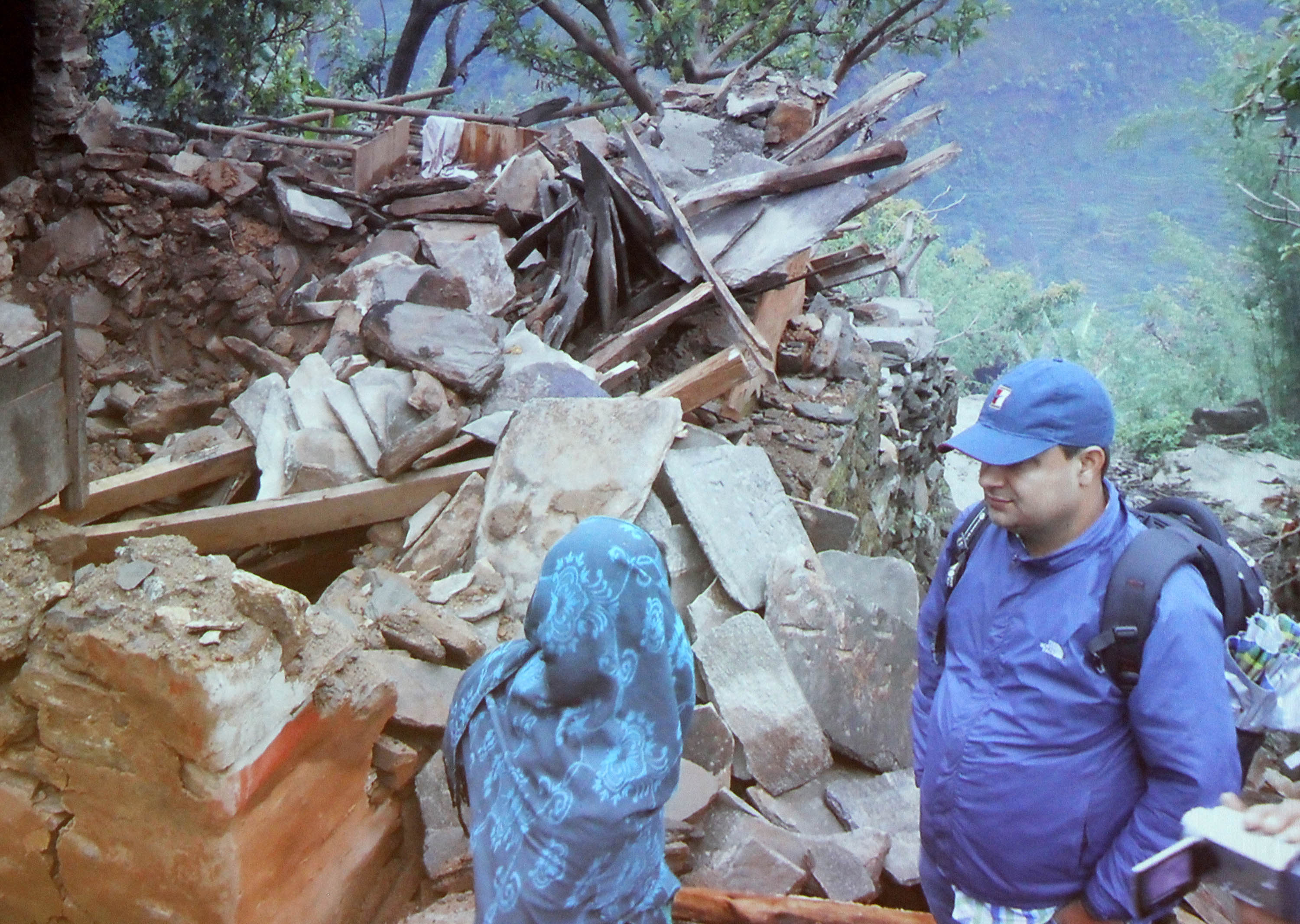 ISER-N staff coordinate disaster relief efforts after Nepal Earthquake. Image courtesy: Institute for Social and Environmental Research-Nepal