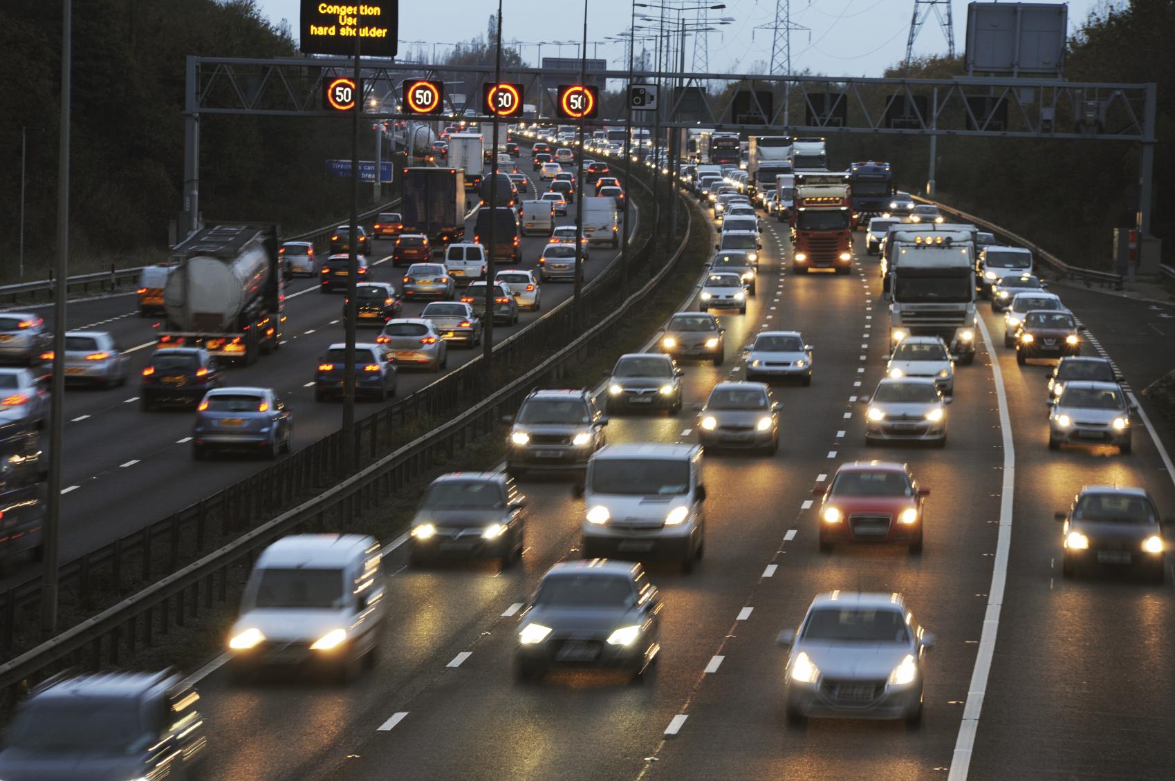 Rush hour traffic. (stock image)