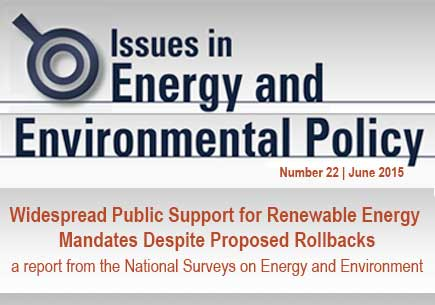 Widespread Public Support for Renewable Energy Mandates Despite Proposed Rollbacks report cover