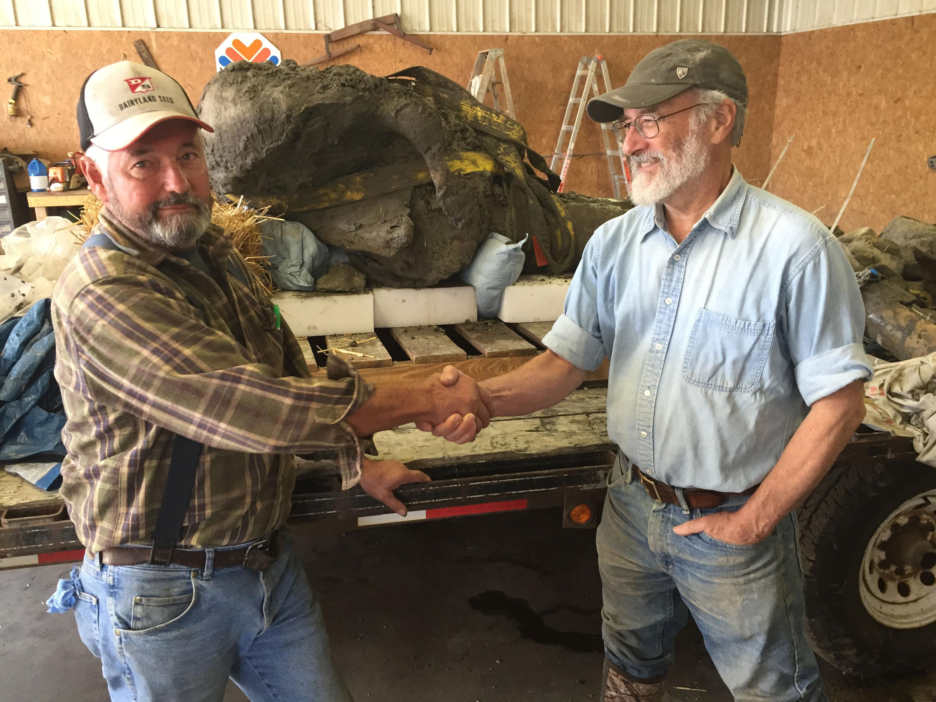 James Bristle, left, and Daniel Fisher, director of the U-M Museum of Paleontology. Image credit: University of Michigan