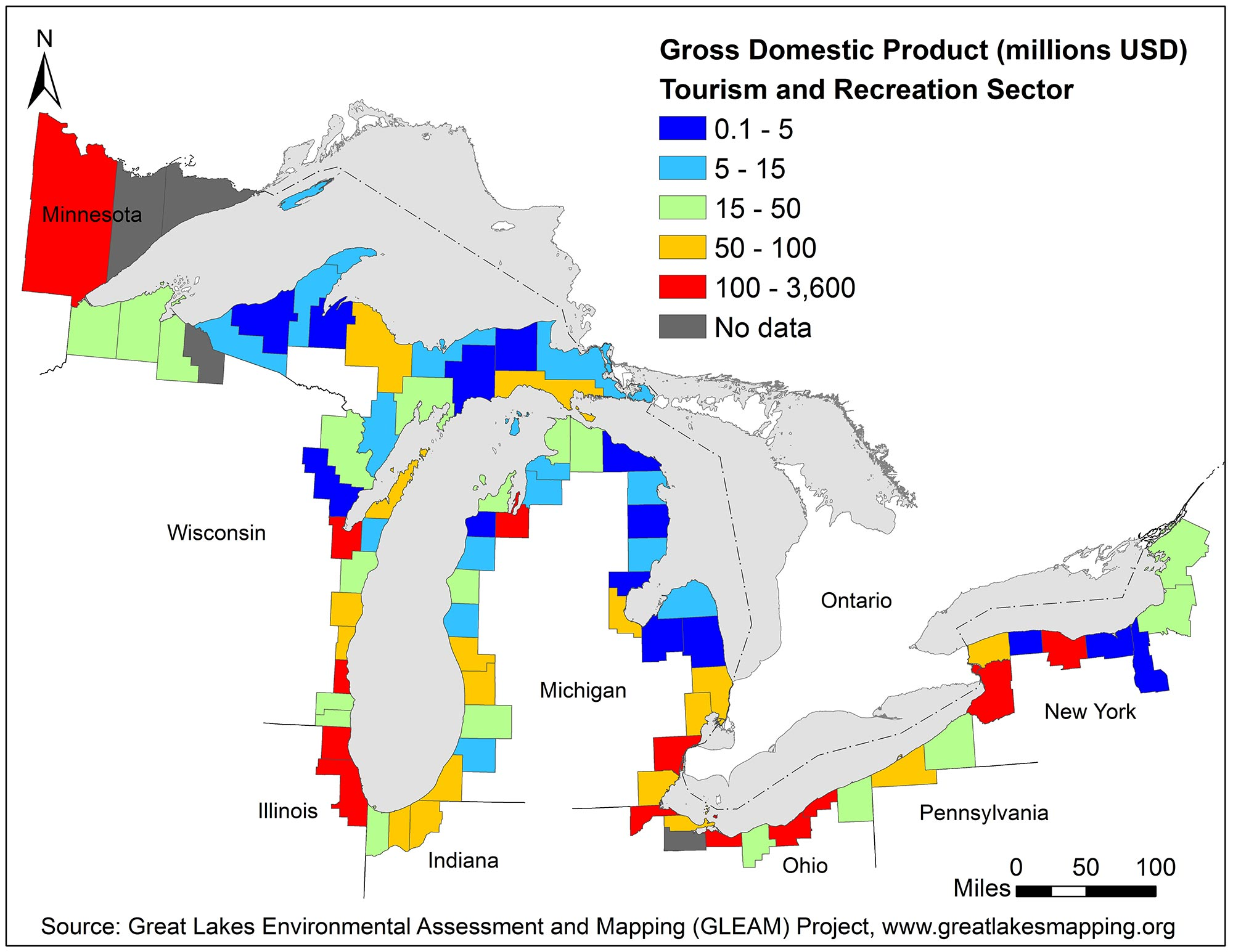 New, ultra-detailed maps of Great Lakes recreational use will inform ...